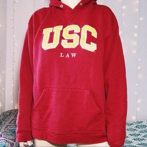 Vintage USC law embroidered patch hoodie jacket